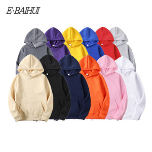 de E-baihui Homens Marca Moda Hoodies nova primavera Autumn Masculino Casual Sólidos Tops Hoodies Cor camisola hoodies camisolas dos homens