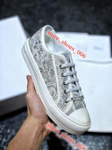 Dior B23 canvas shoes Top Sneakers 2020 xshfbcl Новые цветы Технические Canvas B23 High-Top Sneaker Косой вскользь высокого качества тренеров Женская обувь Мужская обувь Luxe