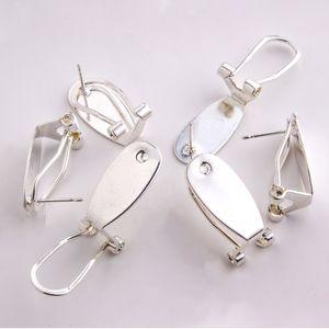 Taidian argento Unghia Orecchini Messaggio per i nativi donne Beadswork l'orecchino i monili che trovano Fare 50 parti / lotto