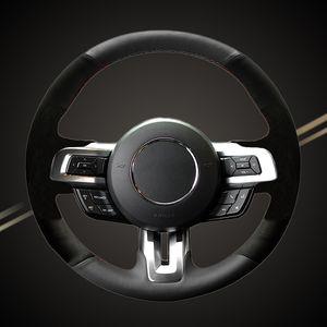 Braid do carro na capa do volante para Mustang 2015-2019 Mustang GT 2015 2017 2018 2019 Auto Braiding Capas de estilo automóvel
