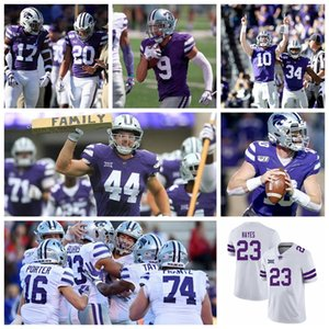 Kansas State Wildcats Maillots Chabastin Taylor Jersey Landry Weber Dylan Wentzel Cameron Cotton Konner Fox Football Maillots personnalisé Cousu