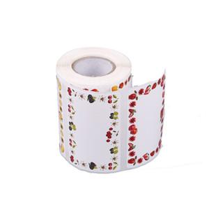 200pcs / Rulo Kare You yapışkanlı etiket Sticker Zarf Seal Sticker Fırında Papckage DIY Yaratıcı Post-it Öğrenci ederiz