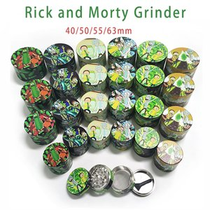 Herb Grinder 40 50 55 63mm 2 styles 4 layers Tobacco Grinder Smoking Metal Grinders Dry Herb Vaporizer CNC Teeth Filter