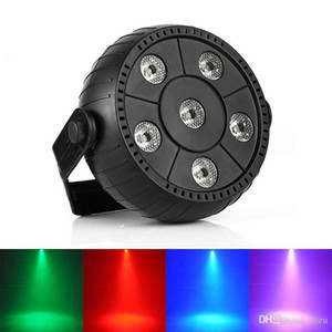 Mini 13W Dj Laser Disco Ball Light Stage 6 Led Rgb Wash Efeito portátil Stage Light Par Auto Sound Activation interior Disco Lamp