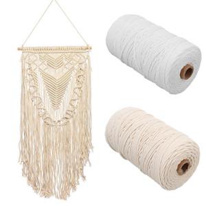 Artisan corda torta String Arazzo lungo mestiere di DIY parete fatta a mano Hanging cotone maglieria Curtain Macrame