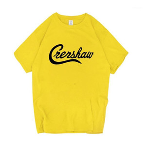 Tshirts Summer Loose Solid Color Letter Printed Tops Teenager Fashion Short Sleeve Tees Nipsey Hussle Crenshaw Mens