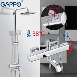 GAPPO 욕조 수도꼭지 온도 조절 샤워 시스템 목욕 믹서 레인 샤워 세트 폭포 수도꼭지 물 믹서 수도꼭지 시스템