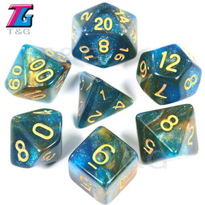 Dice Golden Number Game Accessories Dice 7pcs set
