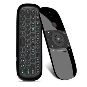 Originale W1 Fly Air Mouse Gyro Wireless Keyboard 2.4g Rechargeble Motion Sense Mini telecomando per Smart Android Tv Box Pc T190628