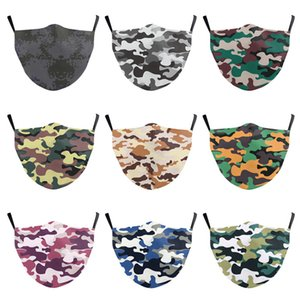 Camouflage mask 3D digital Floral Print Mask Breathable Mouth Masks Anti Dust Reusable Face mask Designer masks T2I51124