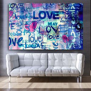 Aşk Mektupları Wall Art Kanvas Graffiti Banksy Poster Kanvas Tablolar Wall Art Pictures Ayıklaması Yatak Baskılar