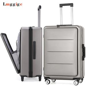 Lüks PC Seyahat Bavul Durumda, Laptop çantası ile Haddeleme Bagaj, Evrensel tekerlek Arabası kutusu, Erkekler İş Dosya paketi