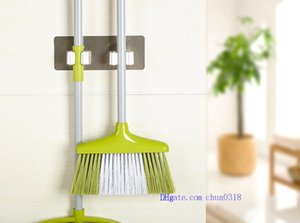 htga 2018 free shipping Wall Mounted Mop Organizer Holder Hang Brush Broom Hanger Storage Rack Kitchen Tool two hanging hole
