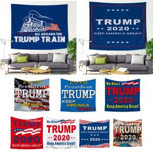 장식 장식 트럼프 기차가 미국의 큰 태피스트리 던져 요가 매트 비치 태피스트리 WX9-1847을 계속 매달려 새로운 2020 트럼프 태피스트리를 들어 벽