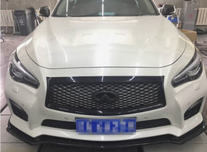 For Infiniti Q50 Body kit spoiler 2016-2018 For Infiniti Q50 ABS Rear lip rear spoiler front Bumper Diffuser Bumpers Protector