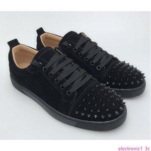 Top Low Cut Спайка дизайнера LUXURY сек обувь унисекс Мужчины Женщины с пятки Мода Шипы Шипованные Шипы Квартиры тапки