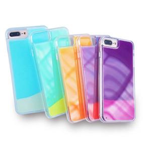 Caso mobile luminoso Sabbia per iPhone XS MAX XR 6 7 8 più X Shell Glow In Dark Liquid glitter copertura del telefono Quicksand