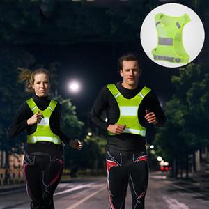 Gece Yansıtıcı Yelek Polyester Nefes Özelleştirilebilir Sarı Turuncu Kısa Tasarım Koşu Bisiklet Spor Yelek DH0648