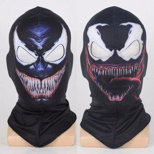 Máscaras Máscara veneno de araña de Cosplay Negro Spiderman Edward Brock oscuro superhéroe Venom Casco fiesta de Halloween Props envío de la gota