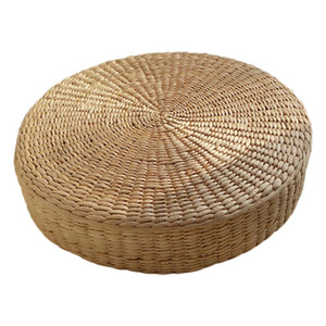 HOT SALE 40cm Tatami Kissen Runde Strohgeflecht handgemachte Kissen Boden Yoga Stuhl Sitzmatte Cat_Mat