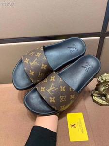 TOP01 Männer Frauen Slide Sandalen Designer20ss Schuhe Luxuryos Slide Summer Fashion Flach Slippery mit dicken Sandalen Slipper Flip Flops