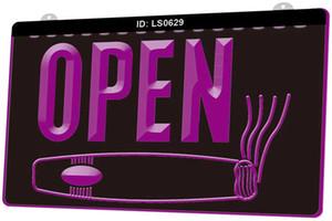 LS0629 abierto Cigarros Shop Smoking Bar Nueva 3D de luz LED de grabado sesión Personalizar bajo demanda en color múltiple