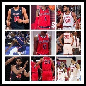2020 Université ncaa St. John Red Storm Jersey Basketball Chris Mullin Ron Artest Marcellus Earlington LJ Figueroa Rasheem Dunn Heron 4XL