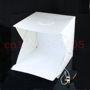 Freeshipping 40 см Портативный мини LED Photo Studio Box фотография фон встроенный высокий свет Photo Box складной софтбокс с backgound новый