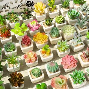 Simulação Plantas Suculentas Vaso De Flor Artificial Ornamento Botânica Mini Primavera Verde Vermelho Casa Decoração Planta Em Vaso Nova Chegada 3 4sm