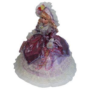 18inch delicado hecho a mano de porcelana victorianas Muñecas mujeres elegantes figuras Collectibles Hermoso adorno de escritorio Figurines