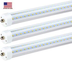 T8 LED 튜브 램프 8FT 72W 더블 행 FA8 R17D AC85-265V 384LEDS 2835SMD 형광 전구 2400mm 직접 중국 공장