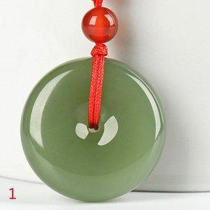 Кнопка Drop Shipping СУАР Hetian юй ожерелье безопасности PingAnKou Amulet Пара любителей ожерелье с цепью для женщин мужчин