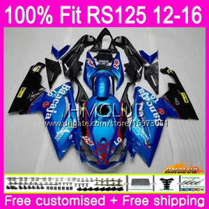 Injection pour Aprilia RS-125 RS125RR RS125 12 13 14 15 16 37HM.15 Bleu brillant 125R RS4 RSV125 RS 125 2012 2014 2014 2015 2016 Carénage OEM