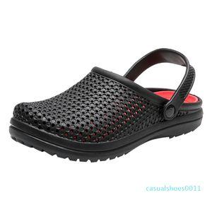 Hot Sale- Men's Sandals summer men shoes Breathable Walking Beach Sports Slippers Outdoor men\x27s shoes Hole Non-slip c11