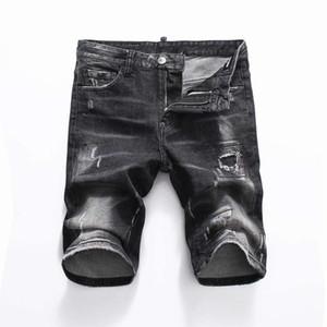 19ss Nuova famoso stilista Distressed mens jeans strappati Motociclista Jeans causali del denim del foro Pantaloni Streetwear Jeans Uomo k1