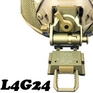 CQC Alumínio L4G24 Airsoft Capacete Tático NVG Mount Para Night Vision Goggle AN / PVS-7 14 15 18 21