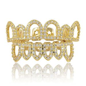 الهيب هوب الذهب الحمالات الشرير النساء الرجال حزب الأسنان الديكور مجوهرات الجوف خارج أسنان الذهب مطعمة الصغرى الساخنة