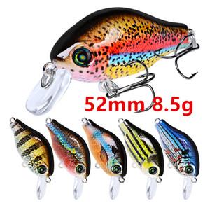 Mixed 10 Cor 52 milímetros 8.5g Crank Fishing Hooks anzóis 8 # anzol Lure rígido Iscas Lures Pesca Pesqueiro B86_10