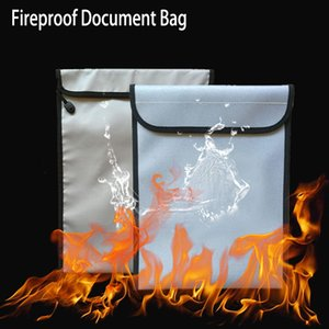 Fireproof Document Bag Fireproof Safe Bag, Money Pouch Envelope , Non-Itchy Silicone Coated File Storage,Waterproof Document Holder