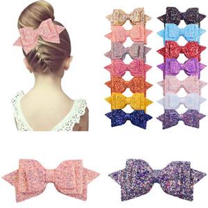 Paillettes Bow Barrettes Filles Big Glitter Bow cheveux bébé CÉRÉMONIES enfants Barrette Mignon Hairpin Party Vintage Accessoires cheveux TTA2037-4
