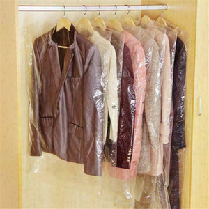 20PCS 플라스틱 의류 먼지 커버 남성 여성 의류 의류 정장 자켓 클리어 보관 커버 수호자 가방