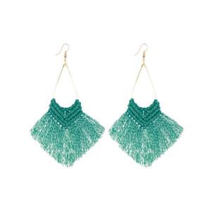Tassel Boucles d'oreilles pour les femmes en Bohême Boucles d'oreilles en métal de style rétro Willow Tassel Ladies bijoux Pendientes