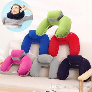 Inflatable U-Shape Neck Pillow Air Cushion Soft Head Rest Compact Plane Flight Travel 4 Colors