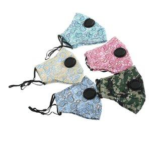 Nefes Vana Filtre Cep Çiçek Camo ile 13styles Pamuk Yüz Maskesi Anti Toz Haze Maskeleri Koruyucu Maske GGA3419 Ağız Maskeleri yazdır