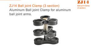 Freeshipping Alumínio 3 Seção + 2 Seção braçadeira Ball Joint Fill Lâmpada Luz Titular Para Mergulho Submarino Fotografia Torch