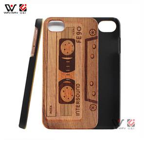 Cajas de madera al por mayor amistosas del teléfono celular de la cubierta del teléfono móvil de Eco para el iPhone 6 7 8 más