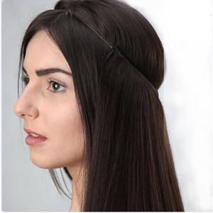 """Бесплатная доставка 12 """"-26"""" 100% бразильских волос человеческих волос Halo Halo Flips в наращивании человеческих волос 1 шт. Установите не зажимы 70 г-140г"""