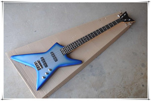 New Arrival Blue Body Unusual Shape Electric Guitar,Rosewood fingerboard,Colour and Material Provide Customization