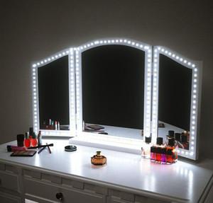 Dimer yılbaşı ışıkları ile Vanity Makyaj Masa Seti için Led Makyaj Ayna Işıklar Şerit LED Kiti 4M 240 LED'ler Makyaj Ayna Işık