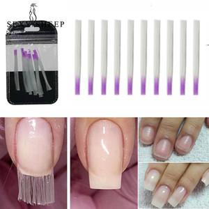 10 piezas de fibra de vidrio de uñas Extensión Extensión UV Gel seda extremidades de acrílico de secado rápido no es fácil de romper alta dureza de uñas Repaire